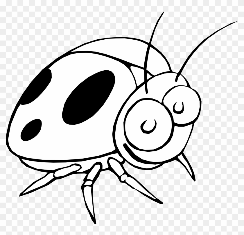 Happy Thanksgiving Clip Art Clipart Coloring Book Colouring - Ladybug Cartoon Black And White #6956