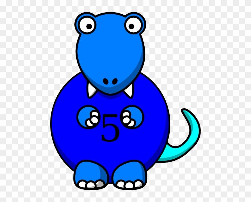 Blue Dinosaur Clip Art - Dinosaur Clipart #6977
