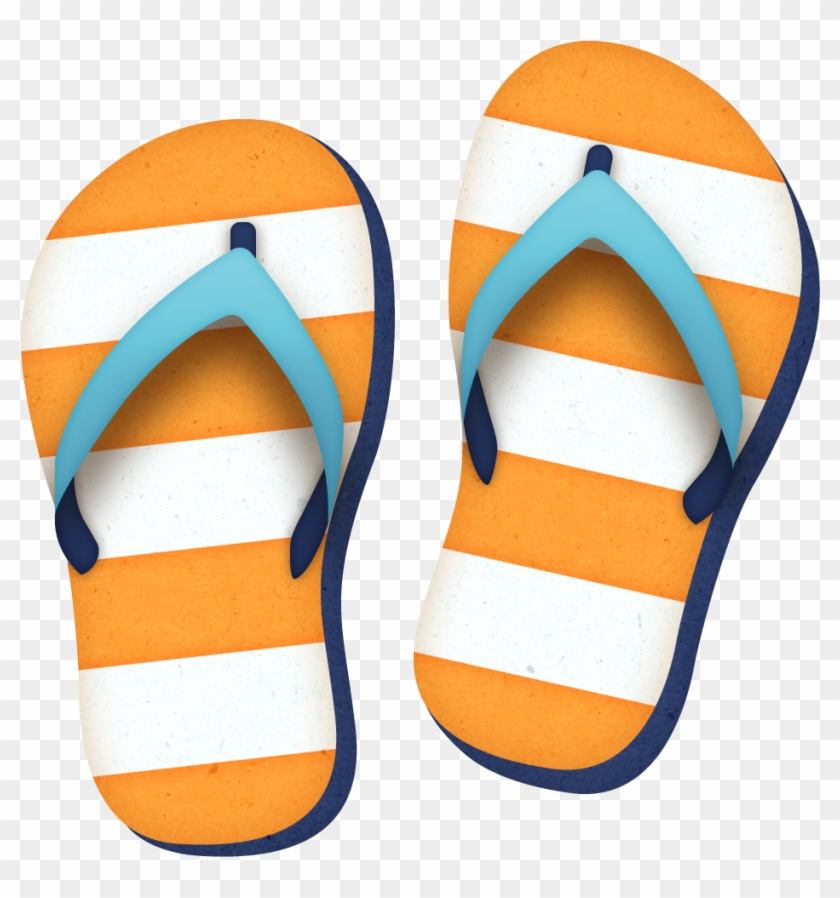 Clipart Slippers Flipflops2 Digi Art Summer And Beach - Clipart Slippers #6994