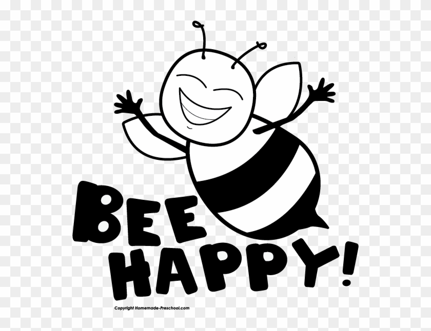 Click To Save Image - Happy Bee Clip Art #7019