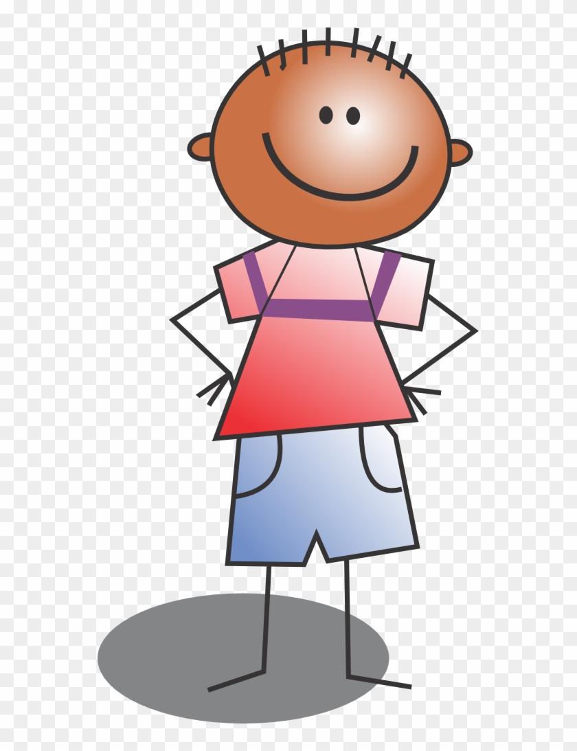 Happy Children - Kid Standing Clipart #7029