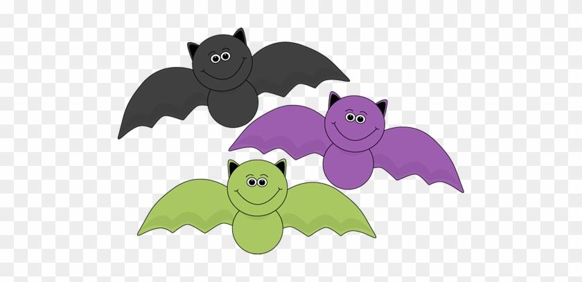 Colorful Halloween Bats Clip Art - Fun Halloween Clip Art #7042