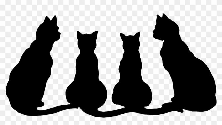 Clipart Info - Cats Black And White Clipart #7058
