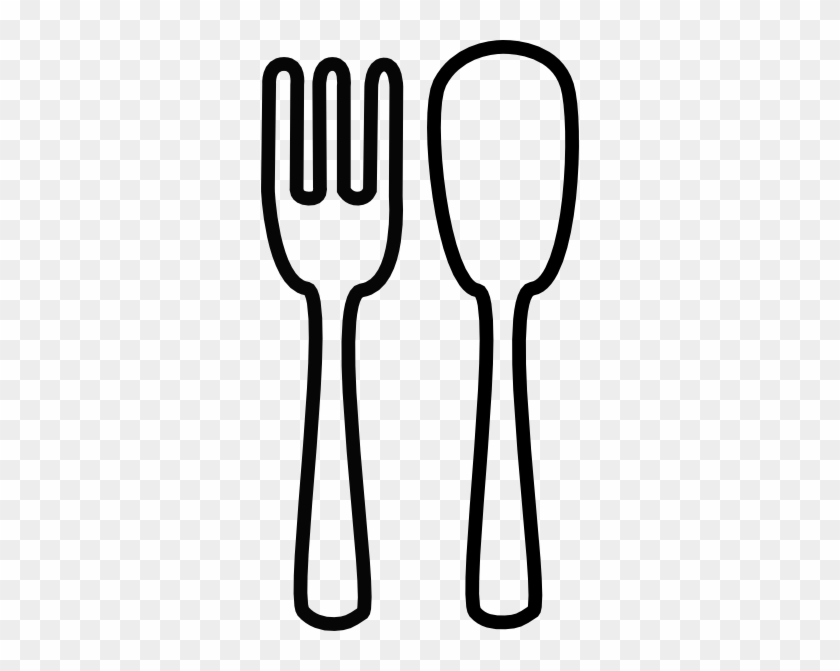 Fork And Spoon Clip Art Spoon And Fork Clipart Clipart - Spoon Fork Clipart Black And White #7067
