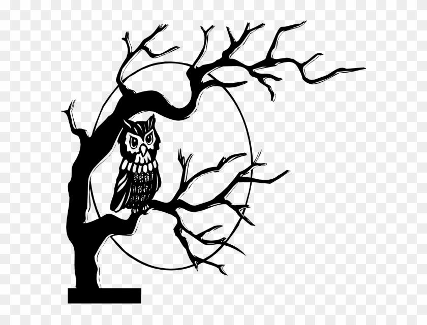 Halloween Clipart Owl In Tree - Higher Self Tarot Spread #7069