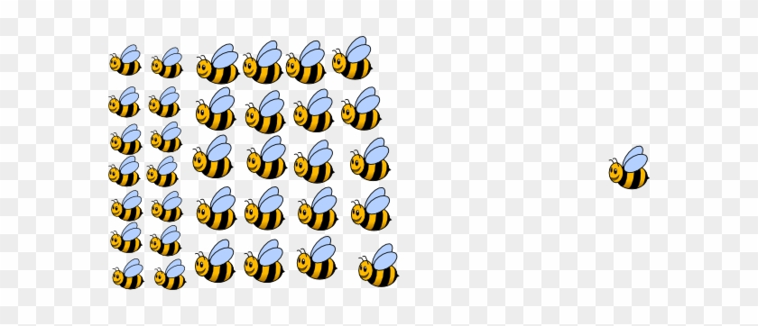 Group Of Bees Clipart #7103