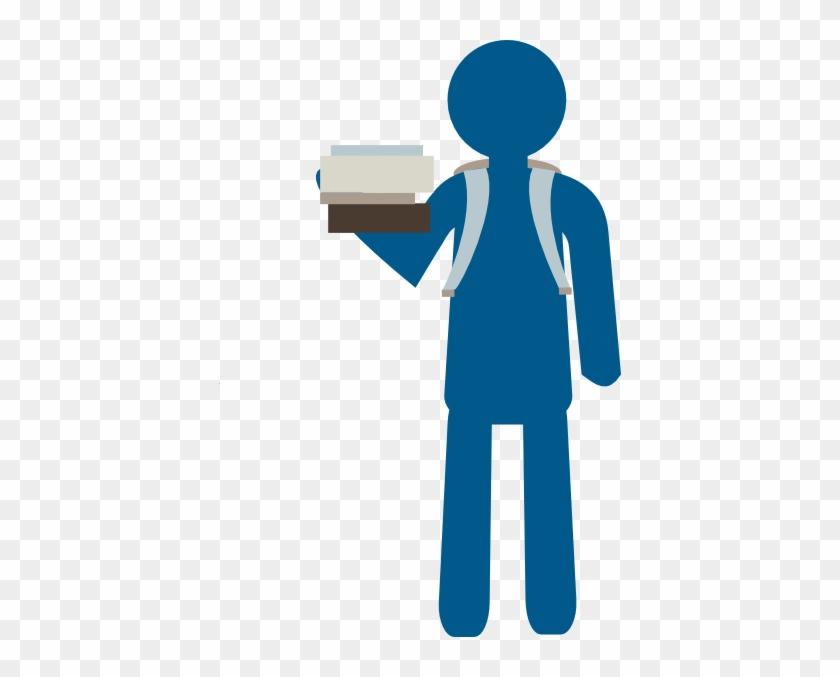 Clipart Info - Student Clipart Blue #7110