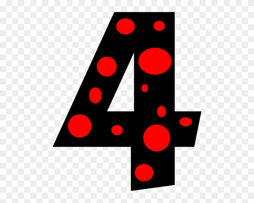 Number 4 Clipart Number 4 Dots Clip Art At Clker Vector - Number 4 Clipart #7132