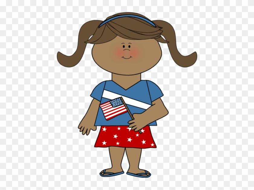 Patriotic Girl - 1st Grade Writing Social Studits #7142
