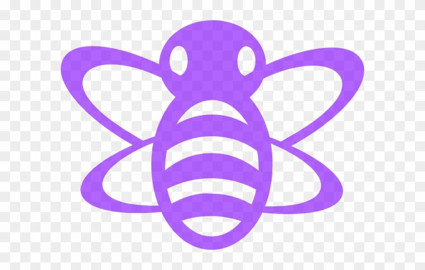 Purple Bee Clip Art At Clker - Bumble Bee Clip Art #7144