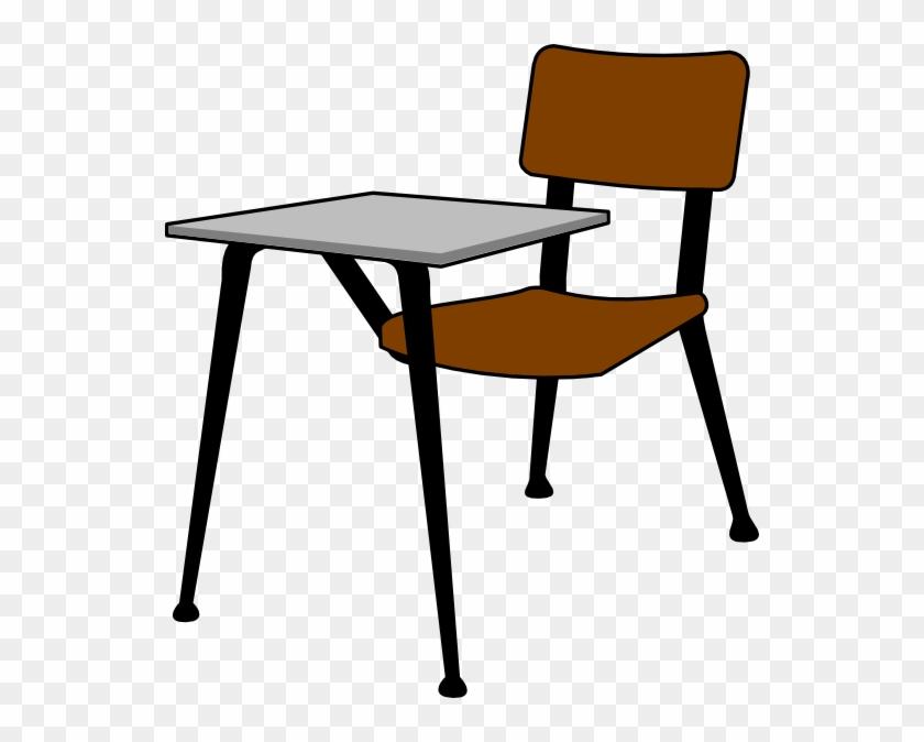 Student Desk Clip Art - Student Desk Desk Clipart #7158