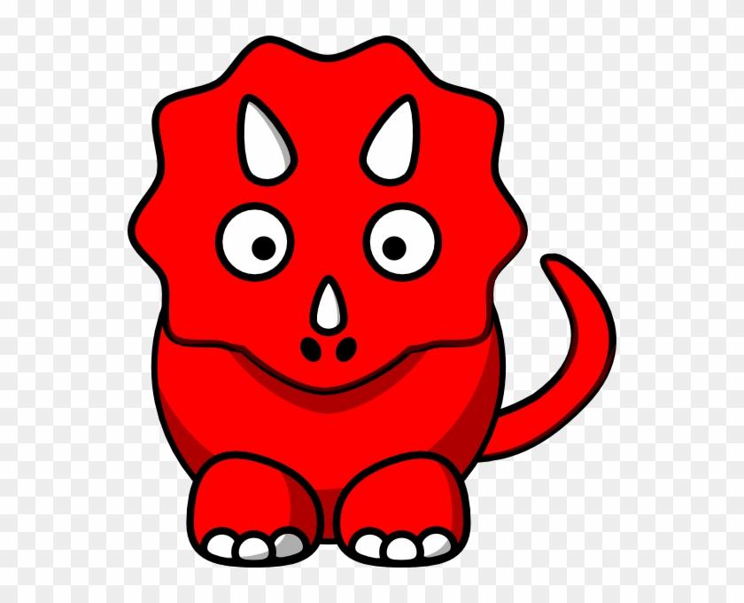 Dinosaur Clip Art - Red Dinosaur Clipart #7170