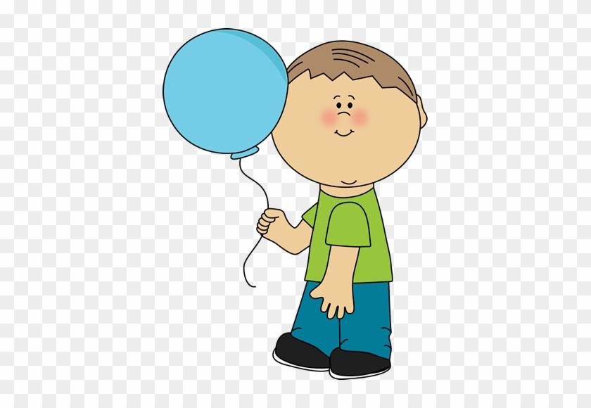 Little Boy Clip Art - Boy With Balloon Clipart #7183