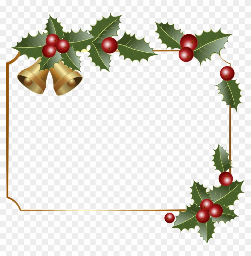 Christmas Border Decor With Bells Png Clipart Image - Christmas Border Decor With Bells Png Clipart Image #735