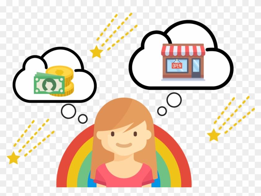 Child Thinking Mentoring Kids To Become Entrepreneurs - Entrepreneurship Clipart Png #7185