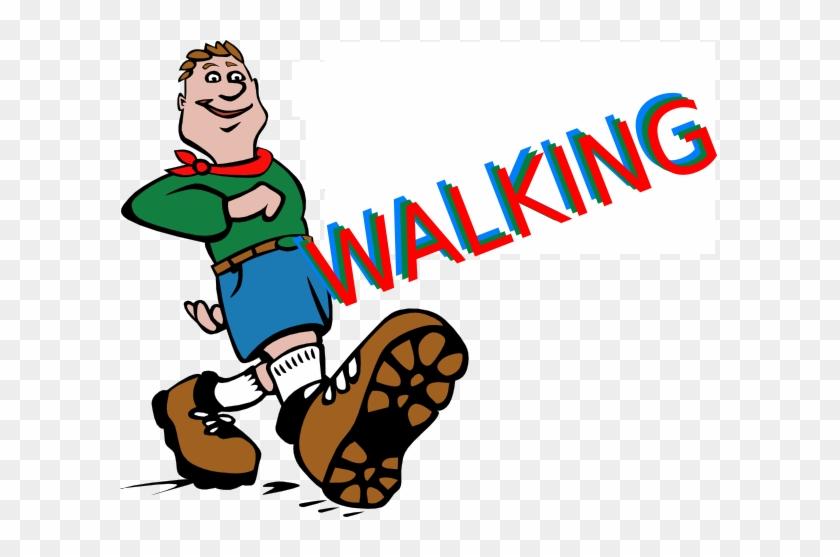 Feet Clipart Child Walking - Clip Art Of Walking #7189