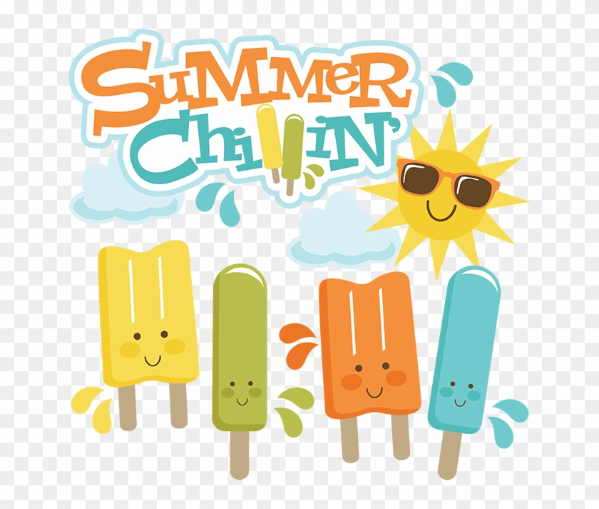 Summer Chillin' Svg Cut Files For Scrapbooking Popsicle - Summer Clip Art Cute #7196