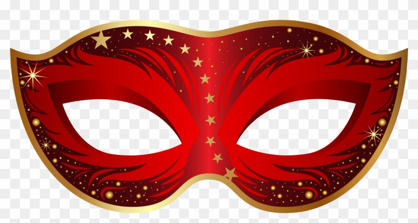 Download - Red Masquerade Mask Png #7244