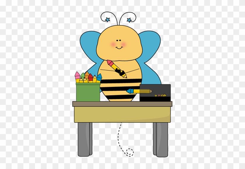 Bee Pencil Monitor - Teacher Bee Clipart #7241