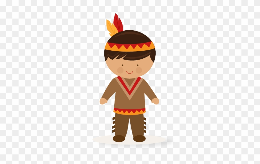 Large Boy Native American Clip Art - Indian Clipart #7258