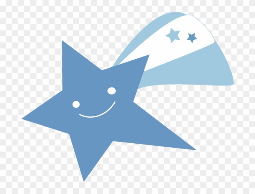 Star Clipart And Animated Graphics Of Stars - Blue Shooting Star Png #7306