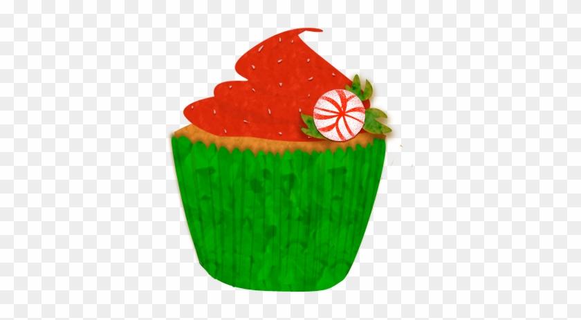 Cake Clipart December - Christmas Cupcake Clip Art #7326