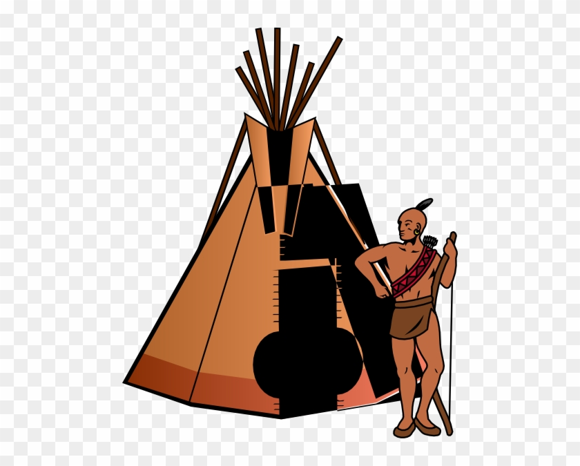 Native American Teepee Clipart #7329