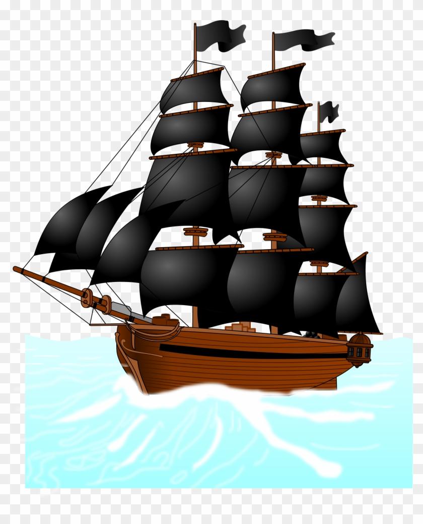 Thanksgiving Clipart Ship - Kapal Bajak Laut Vektor #7347