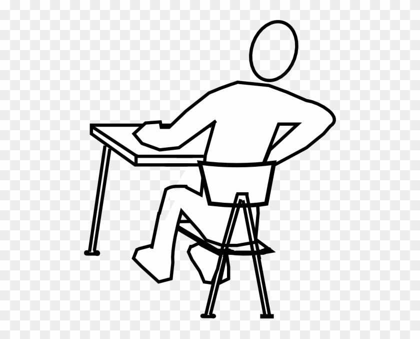 Student Distracted Clip Art At Clker - Draw A Person Sitting #7348
