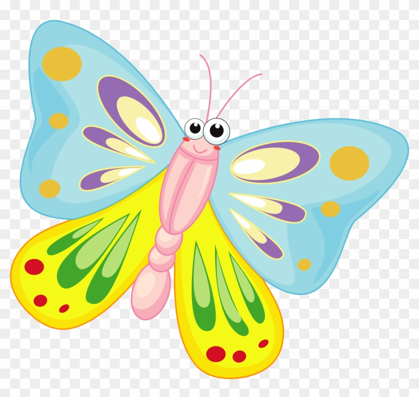 Mainstream Cartoon Image Of Butterfly Icons Png Free - Motýl Kreslený #7357