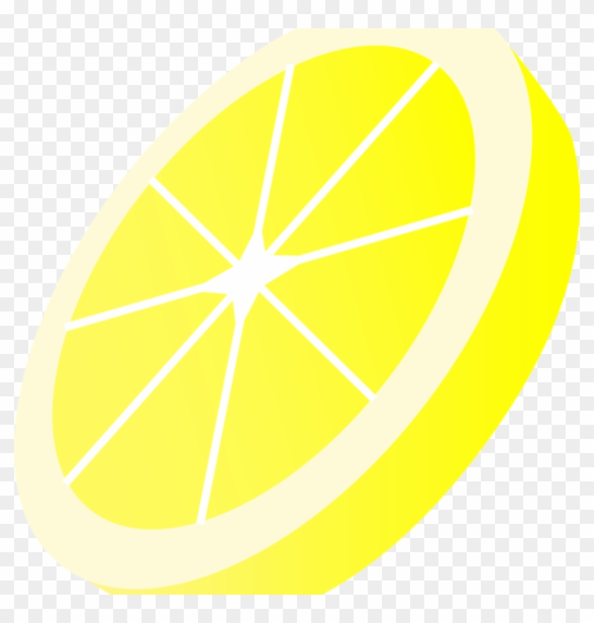 Lemon Slice Clip Art Round Yellow Lemon Slice Free - Clip Art #7369