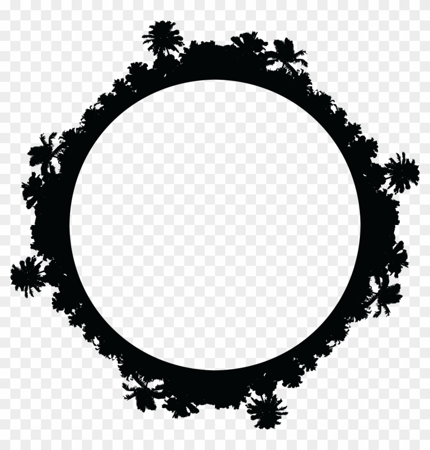 Free Clipart Of A Palm Tree Border - Mountain Bike Wheels Clipart #758