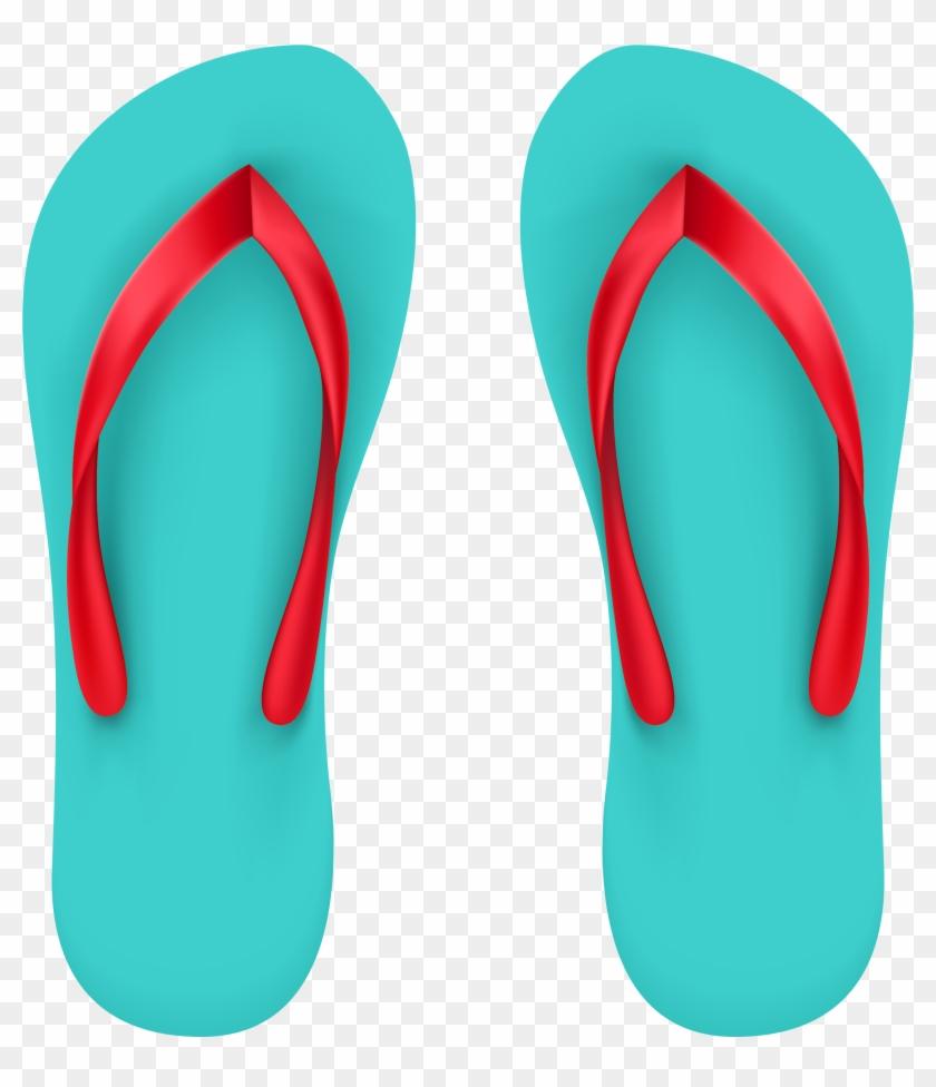 Beach Clipart Flip Flops - Summer Shoes Clip Art #7385