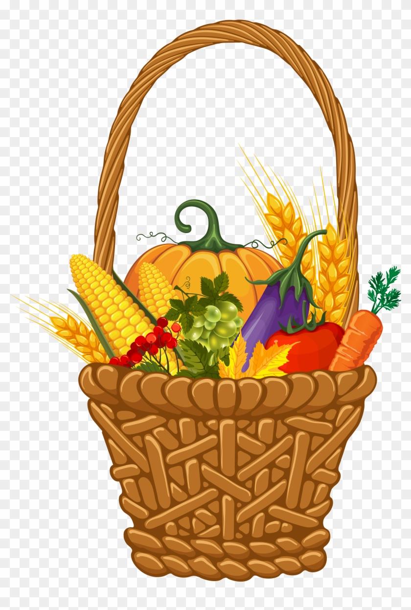 Fall Harvest Basket Png Clipart Image - Fall Harvest Png #7426