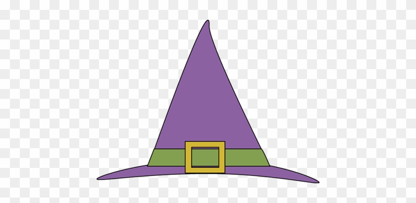 Purple Witches Hat - Witch Hat With A Buckle #7417