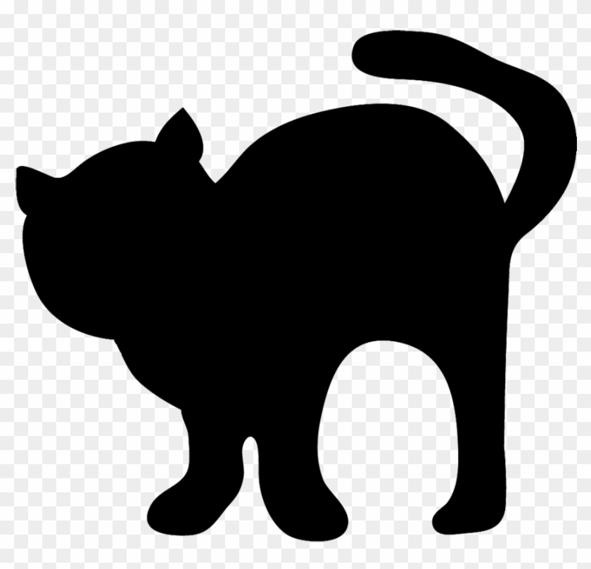 Cat Clip Art, Cat Sketches, Cat Drawings Amp Graphics - Cute Black Cat Silhouette #7419