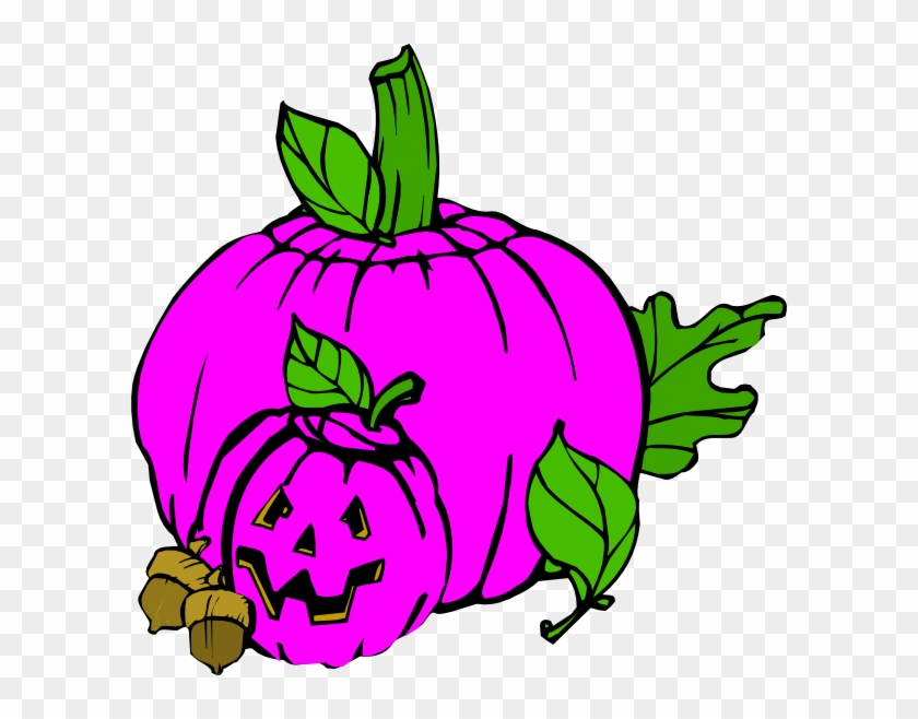 Pink Halloween Clip Art - Jack O Lantern Clip Art #7424