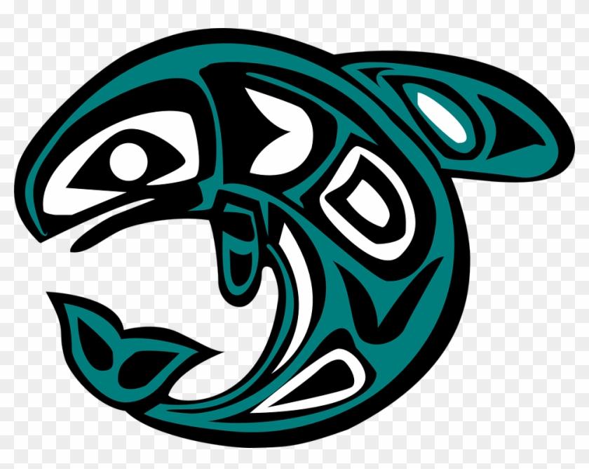 Native American Salmon Symbol - Native American Dolphin Symbol #7450