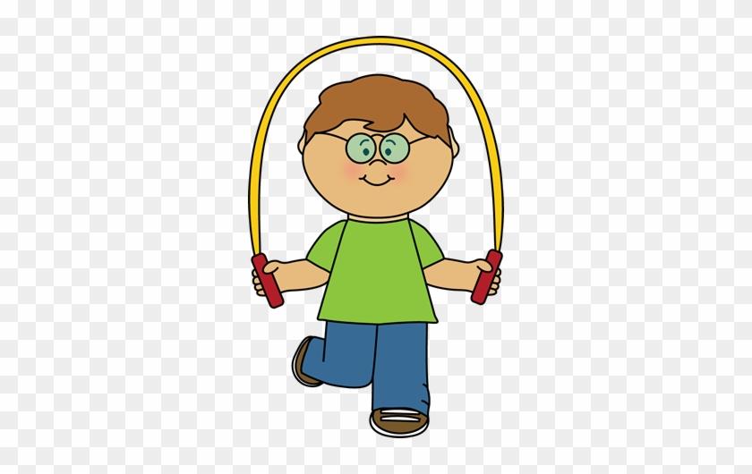 Kid - Jumping Rope Clip Art #7477