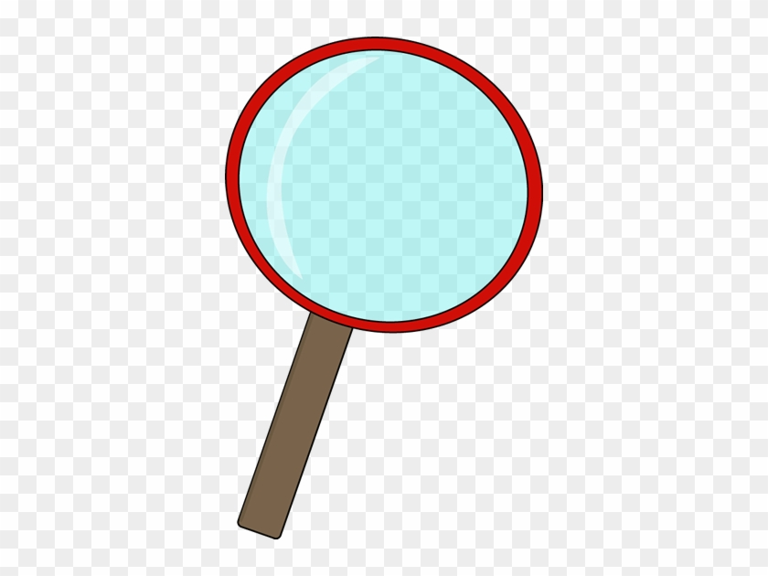 Red Magnifying Glass - Red Magnifying Glass Clipart #7481
