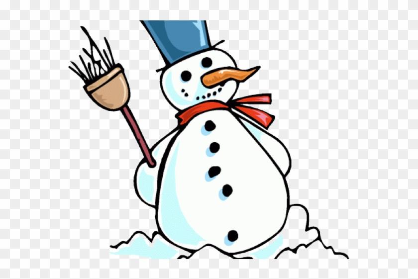 Funny Snowman Clipart - Frosty Snowman Wall Clock #7488