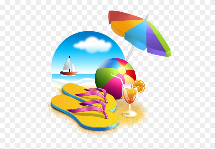 Vacation Clipart Transparent - Beach Png #7512