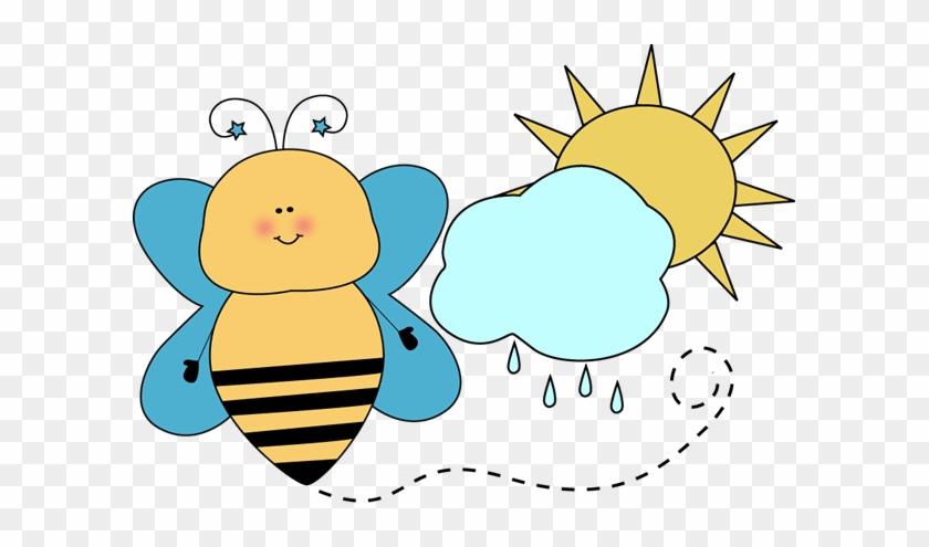 Bee Classroom Weather Monitor Clip Art - Weather Cute Clipart #7517