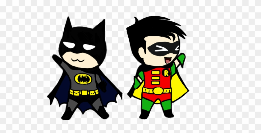 Batman Clipart Chibi - Cartoon Batman And Robin #7514