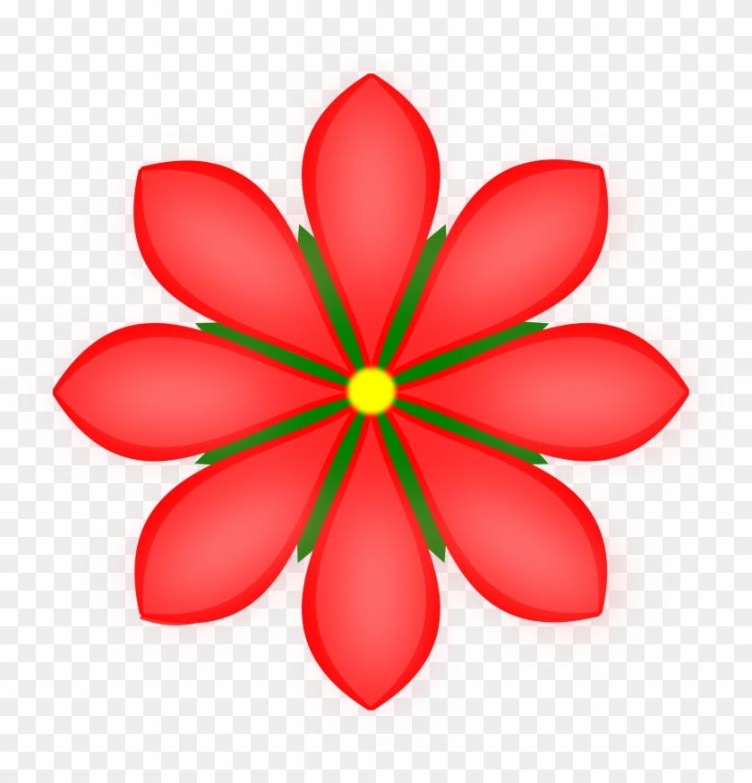 Petal Clipart Red Flower - Modanisa Com Logo #7526
