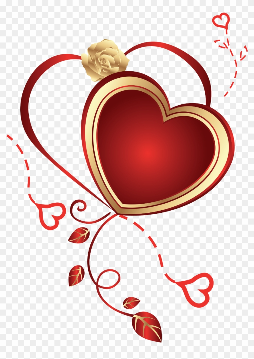 Heart Clipart Png - Rose And Heart Png #7522