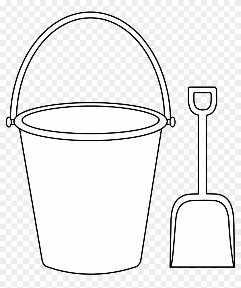 Bucket And Shovel Clipart - Cartoon Pail And Shovel #7550