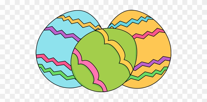 Three Easter Eggs - Easter Clip Art Free #787