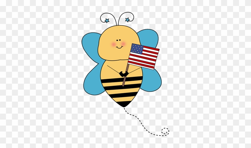 Bee Flag Holder - Flag Holder Clipart #7542
