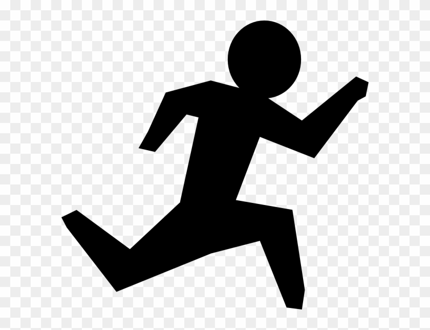 Running Man Clip Art - Black And White Runs #7551